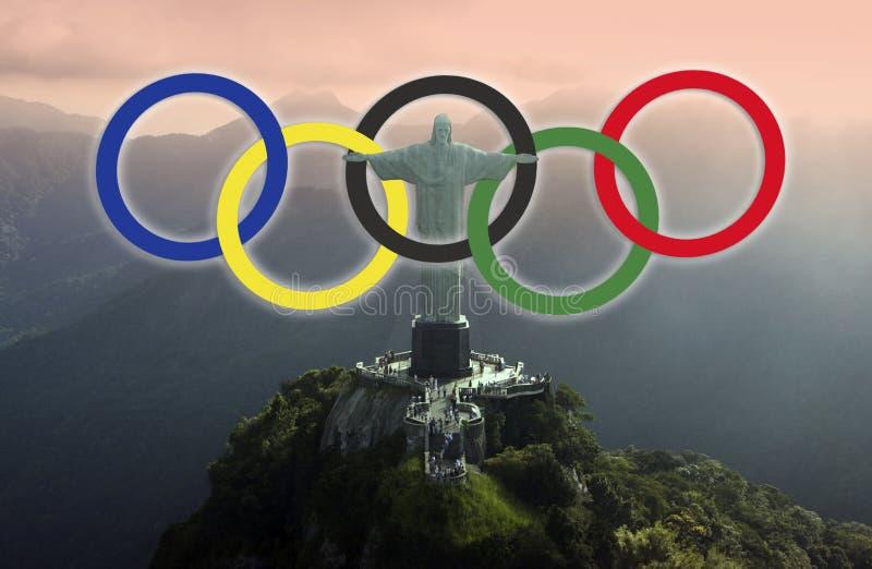 Рио-де-Жанейро - 2016 Олимпийских Игр стоковое изображение