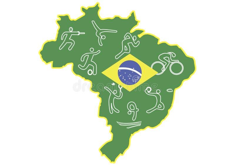 Рио 2016 иллюстрация вектора