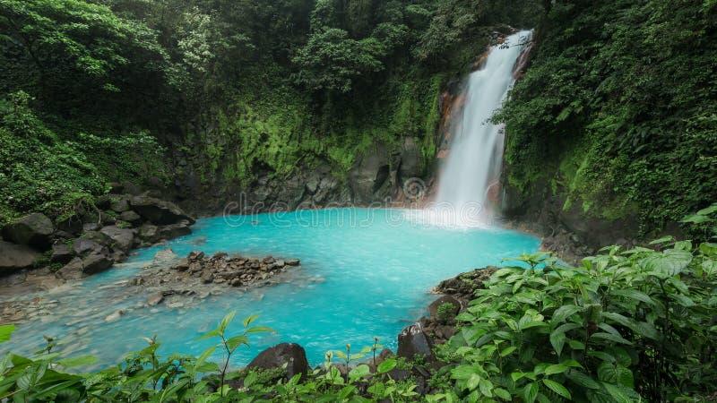 Рио Celeste - национальный парк Tenorio - Коста-Рика стоковые изображения rf