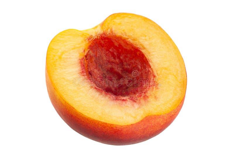 Рип-нектарин фрукт на белом стоковое изображение rf