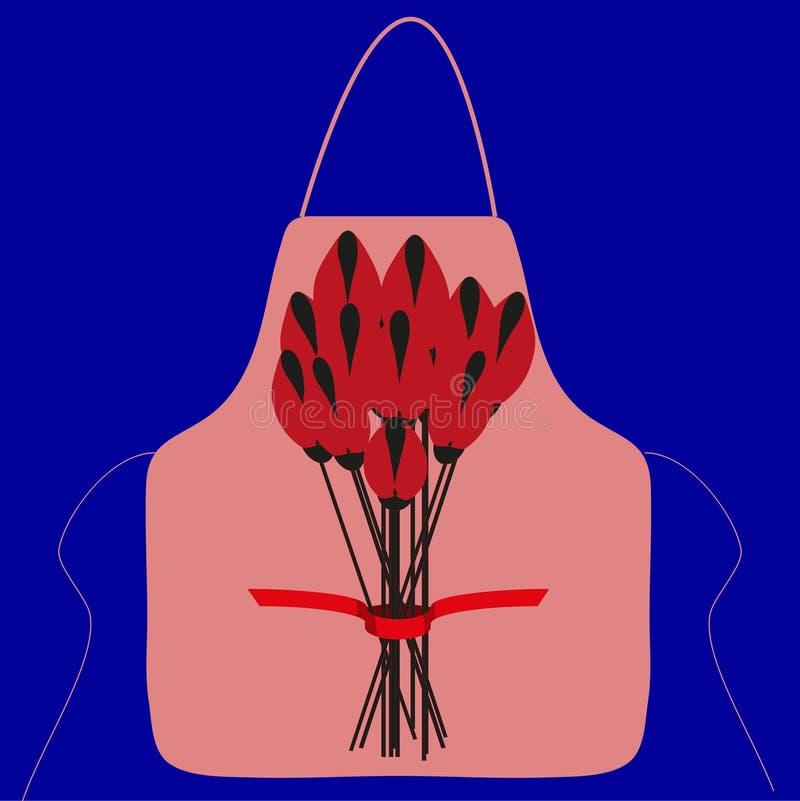 Рисберма с изображением букета цветков стоковое изображение