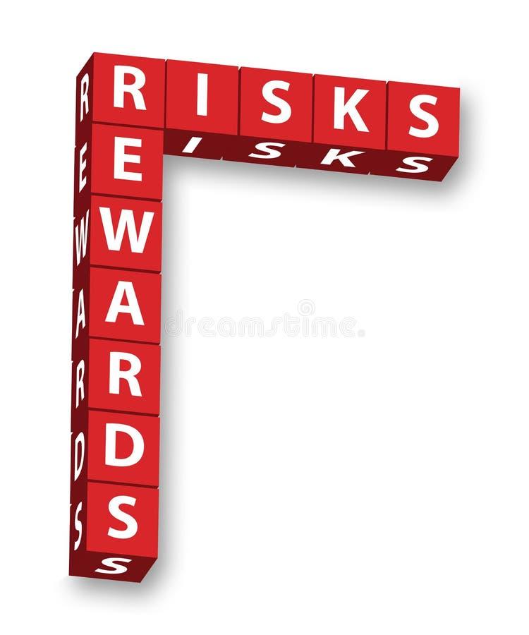 риски вознаграждениями иллюстрация вектора
