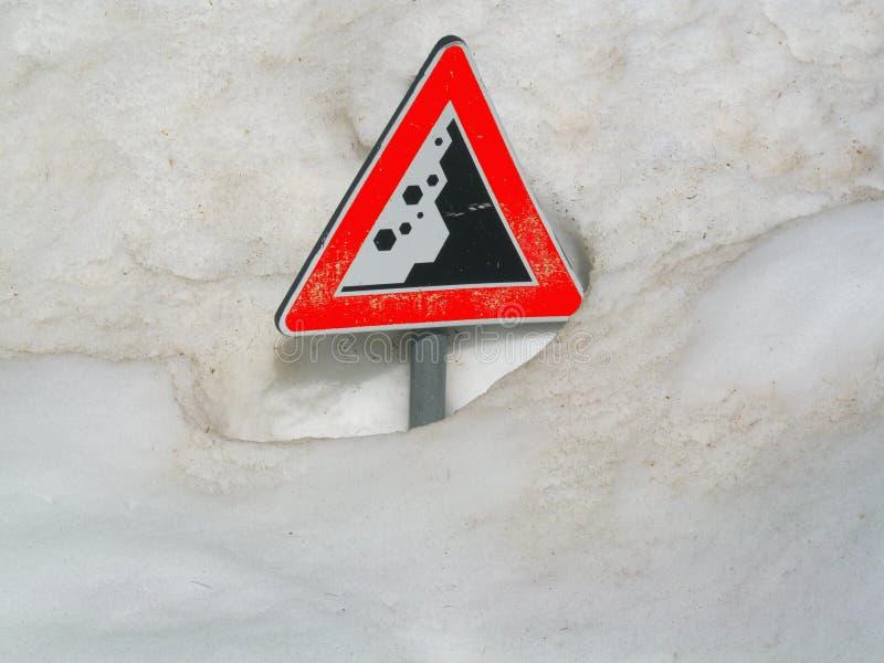 Риск лавины стоковая фотография rf