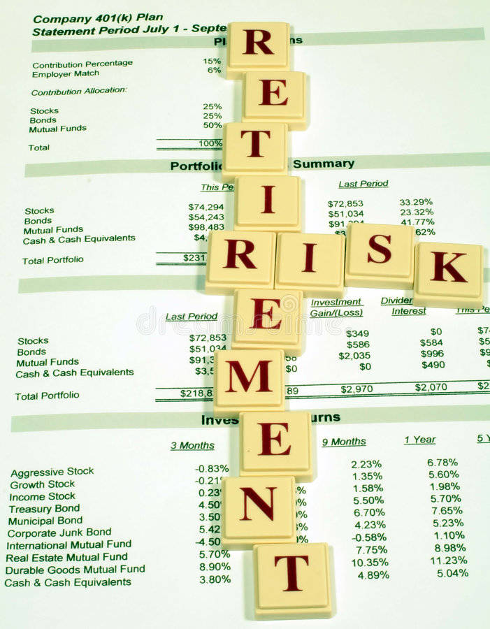 риск выхода на пенсию имуществ стоковая фотография
