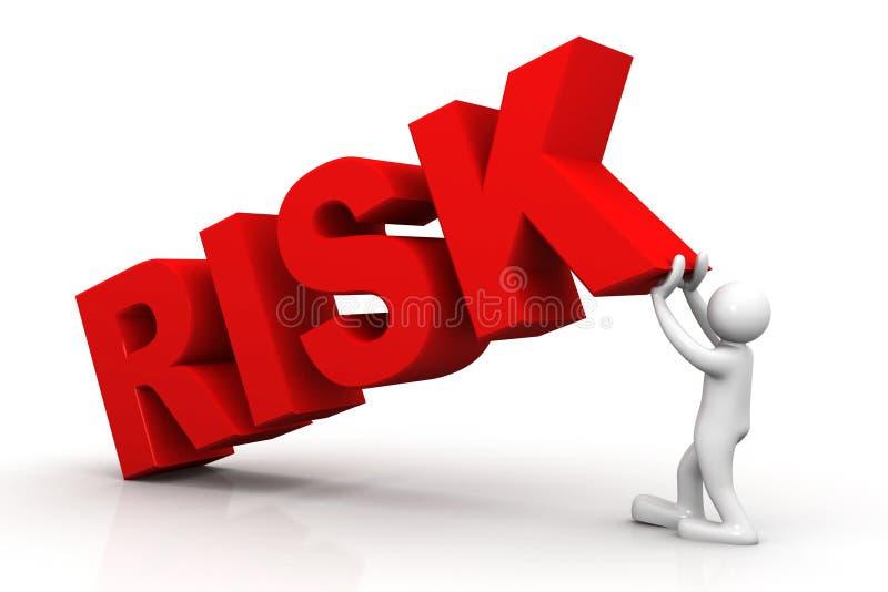 риск слова подъема человека 3d иллюстрация штока