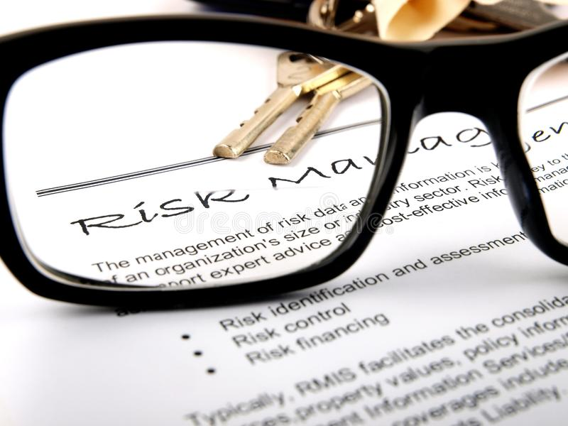 риск управления стоковая фотография rf
