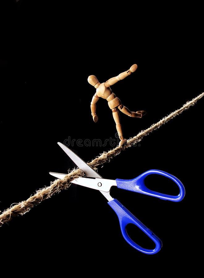 Риск ходока веревочки. стоковые изображения