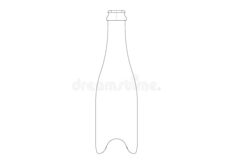 Рисовать бутылки для вина, шампанское, игристое вино вообще бесплатная иллюстрация