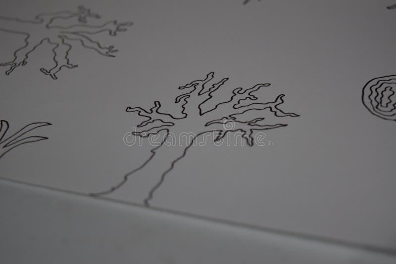 Рисовать дерево стоковое изображение