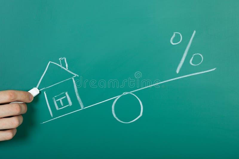 Рисовать иллюстрацию ипотеки стоковое изображение rf