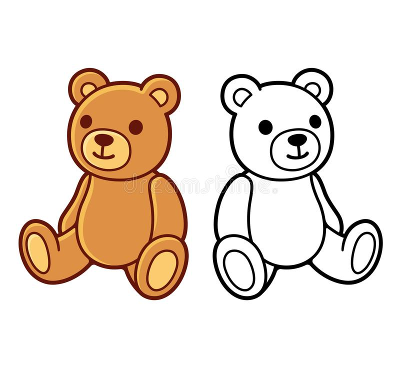 Рисовать плюшевого медвежонка иллюстрация штока