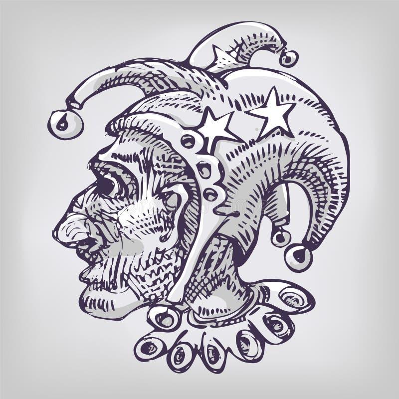 Download Рисовать с арлекином и головой Иллюстрация вектора - иллюстрации насчитывающей крышка, coolie: 37926259