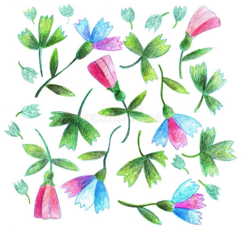 Рисовать цветков иллюстрация вектора