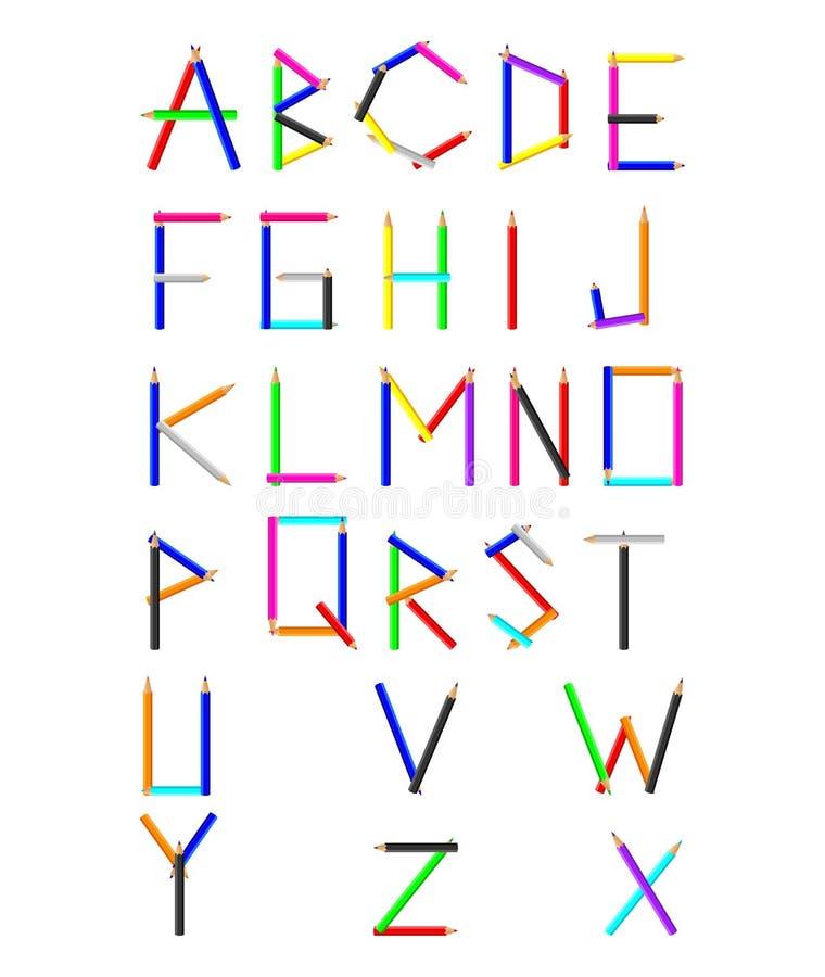 Рисуйте алфавит шаржа текстуры изолированный на белой предпосылке бесплатная иллюстрация