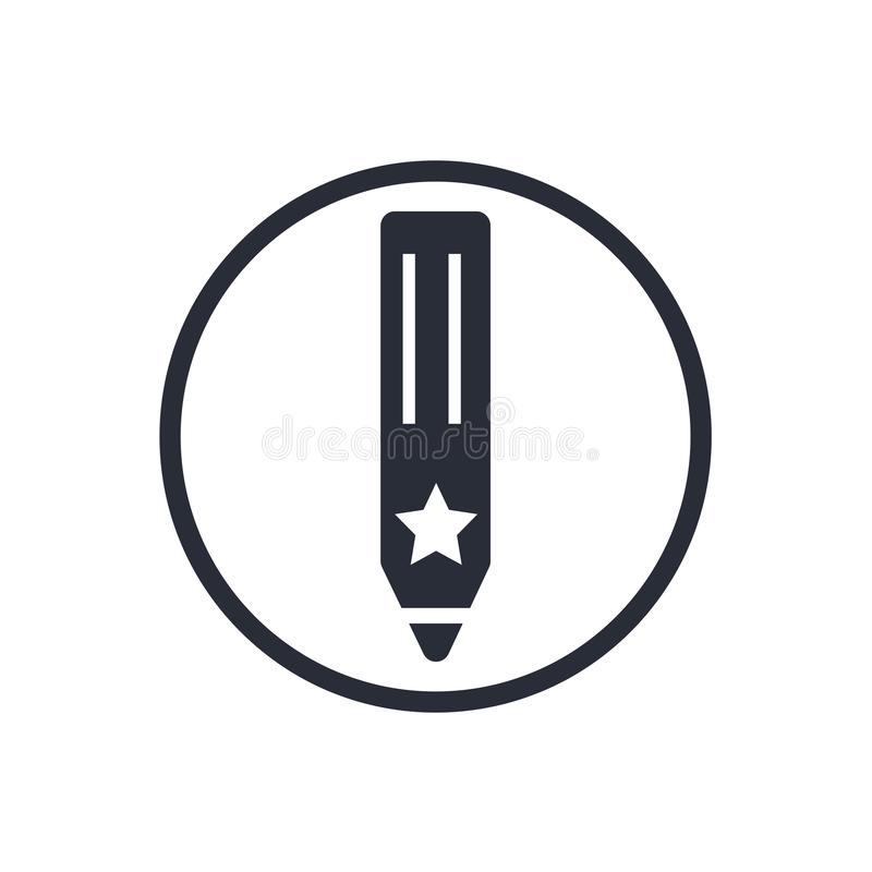 Рисуйте знак и символ вектора значка изолированные на белой предпосылке, концепции логотипа карандаша иллюстрация штока