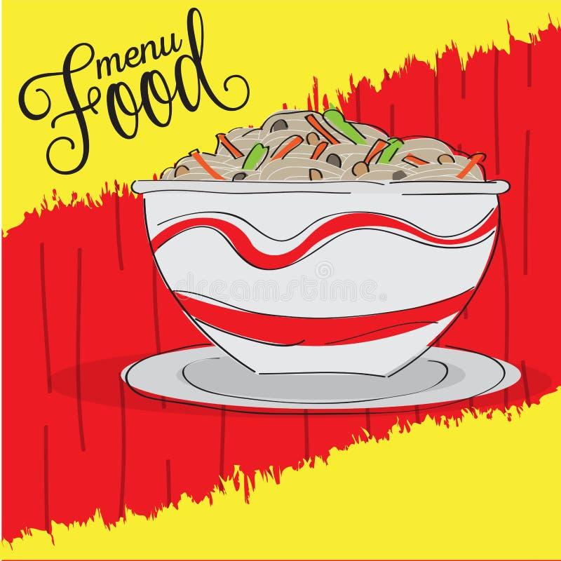 Рисунок меню 'Продовольствие' бесплатная иллюстрация