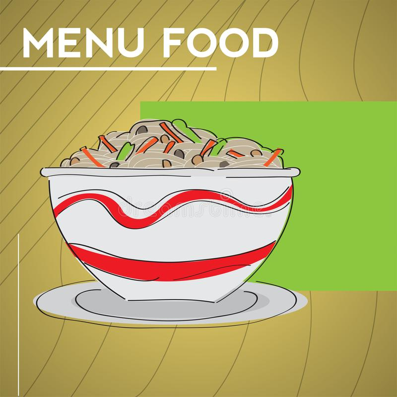 Рисунок меню 'Продовольствие' иллюстрация вектора