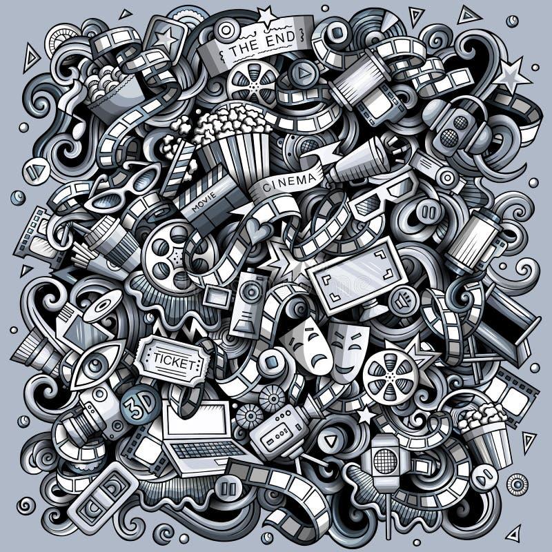 Рисунок мультфильма 'Карикатура' Забавное изображение фильма стоковые фотографии rf