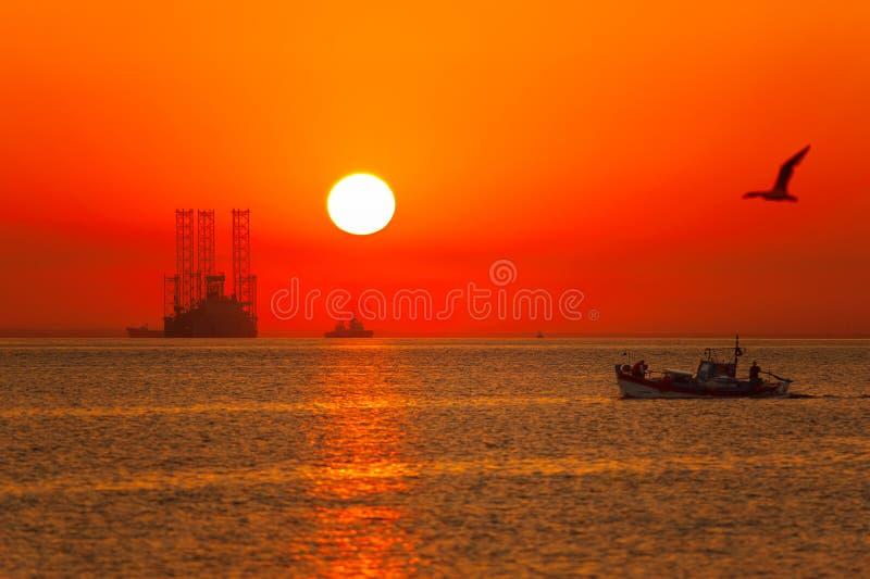 Рисуночный sunrising стоковые фотографии rf