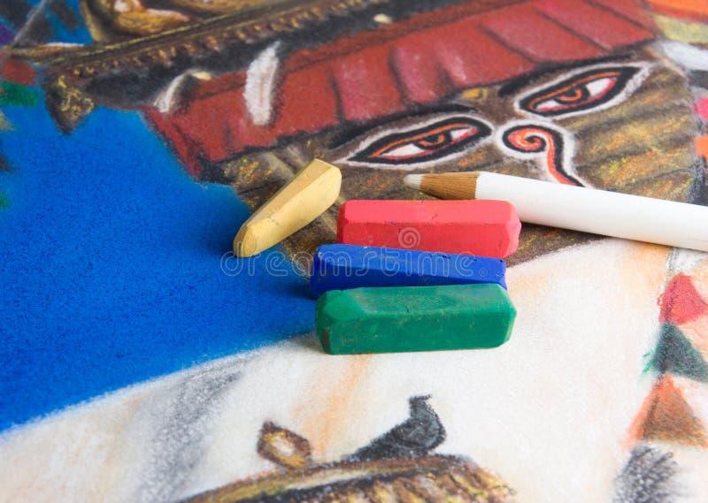 рисуя пастельная нежность стоковое изображение