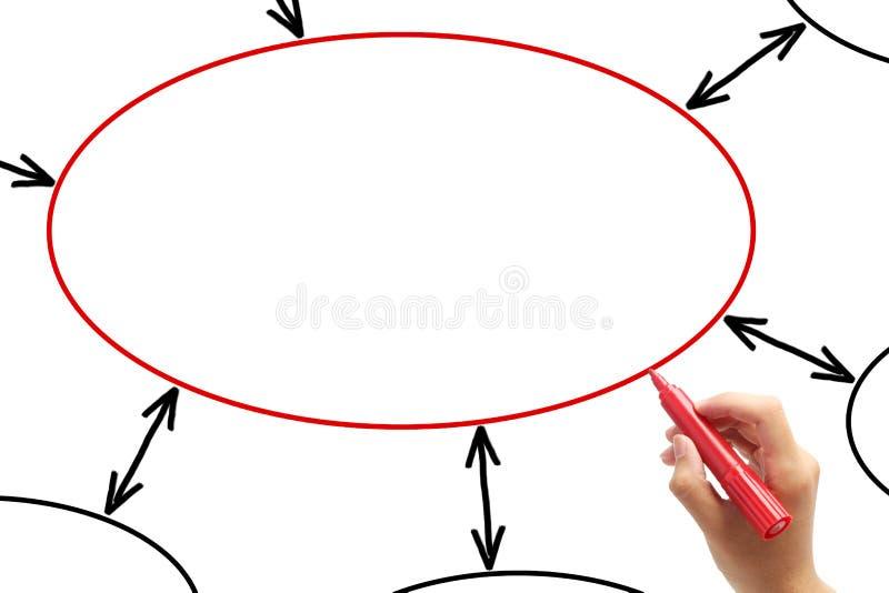 Рисуя пустая диаграмма на whiteboard стоковые изображения