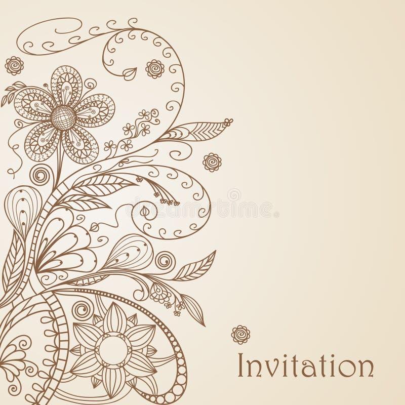 рисуя флористическая картина руки бесплатная иллюстрация
