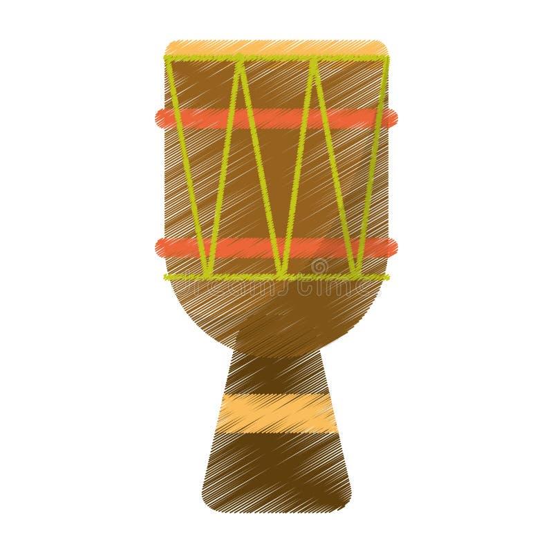 Рисуя brasilian бонго выстукивания барабанчика иллюстрация вектора