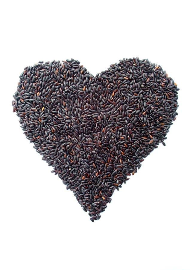 Рис в форме сердца стоковая фотография rf