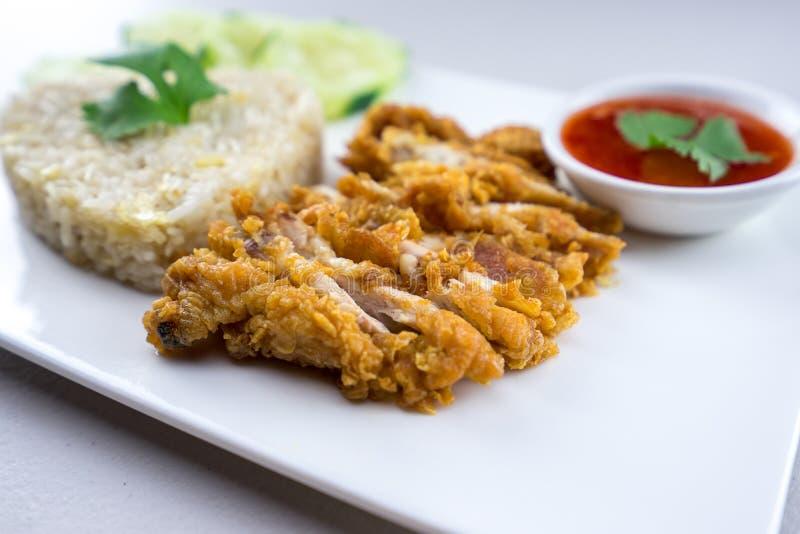 Рис жареной курицы стоковая фотография rf