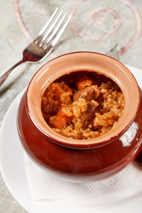рис мяса стоковое изображение