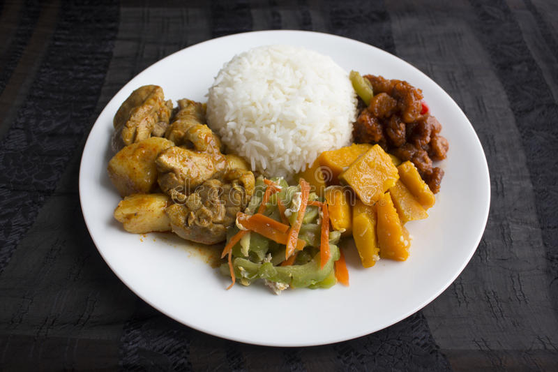 Рис овощей Сингапура/Малайзии смешанный стоковая фотография rf
