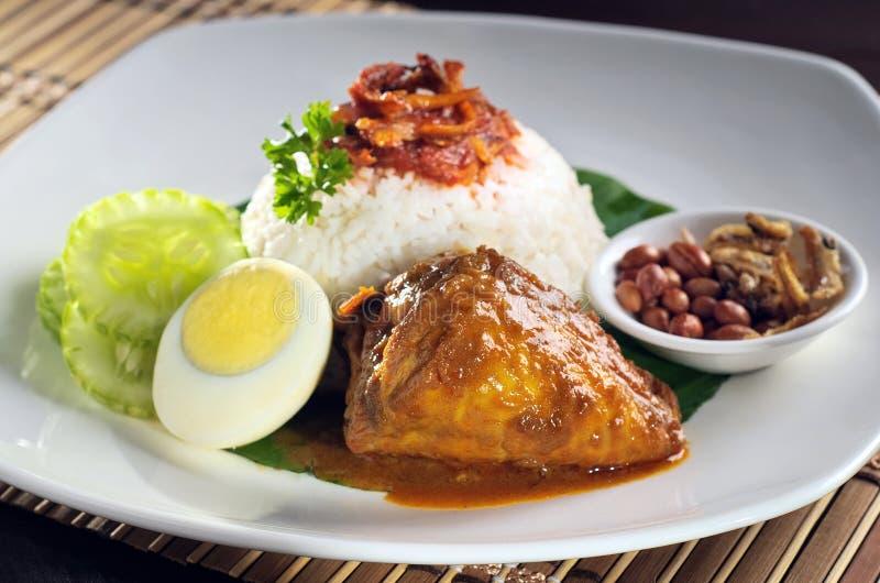 Download Рис с карри цыпленка стоковое изображение. изображение насчитывающей карри - 33736553