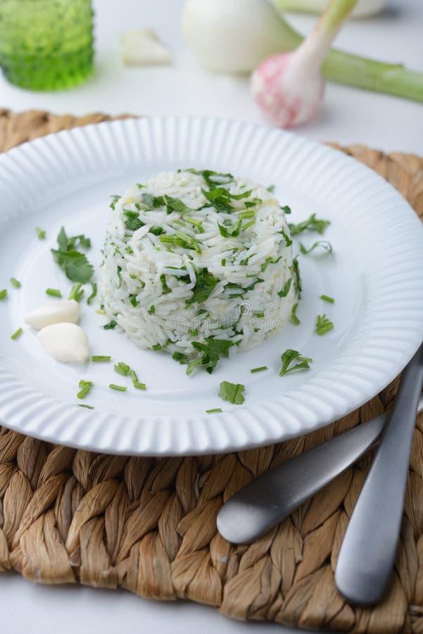 Рис с петрушкой стоковые изображения rf
