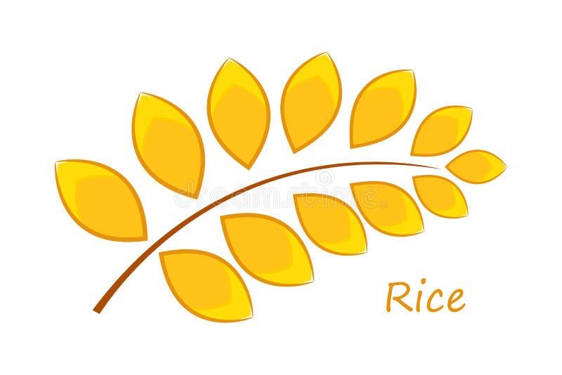 Рис шаржа иллюстрация вектора