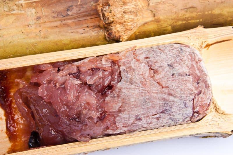 рис bamboo десерта glutinous родной тайский стоковое изображение rf