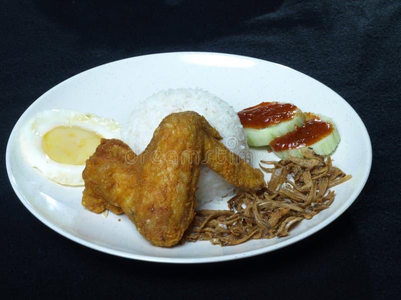 Рис Nasi Lemak известного азиатского малайца еды китайский стоковые фотографии rf