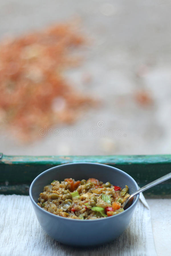 рис Stir-фрая стоковая фотография rf