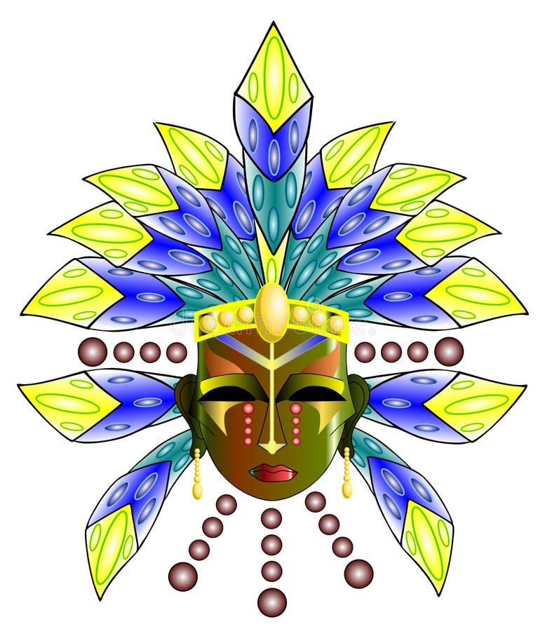 Ритуальная маска иллюстрация вектора