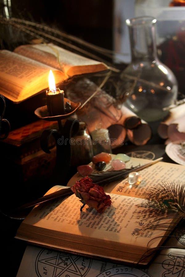 Ритуал черной магии стоковое фото rf