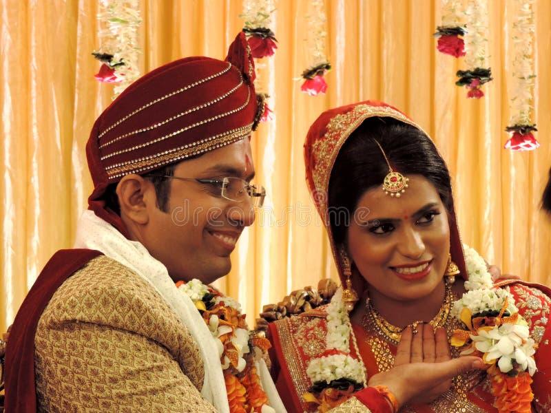 Ритуалы традиционной индусской свадьбы, Индии стоковые изображения rf