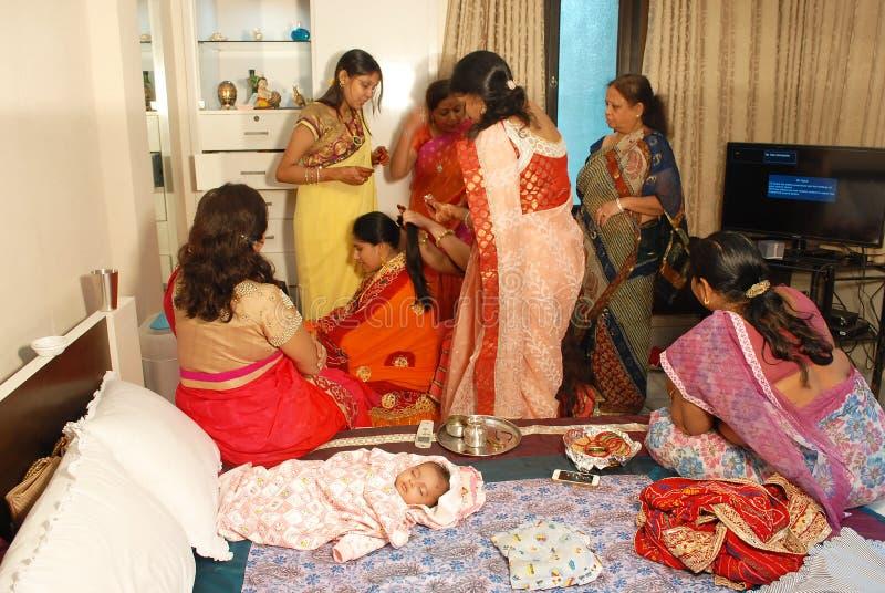 Ритуалы Annaprashana стоковое изображение