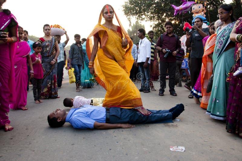 Ритуалы Chhath стоковые фотографии rf
