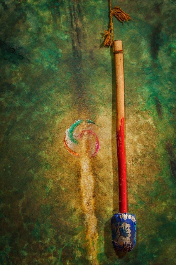 Download Ритуальный барабанчик в монастыре Hemis. Ladakh, Индия Стоковое Изображение - изображение насчитывающей индийско, гонг: 33738081