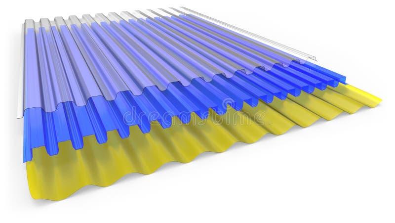 Рифленые листы иллюстрация вектора