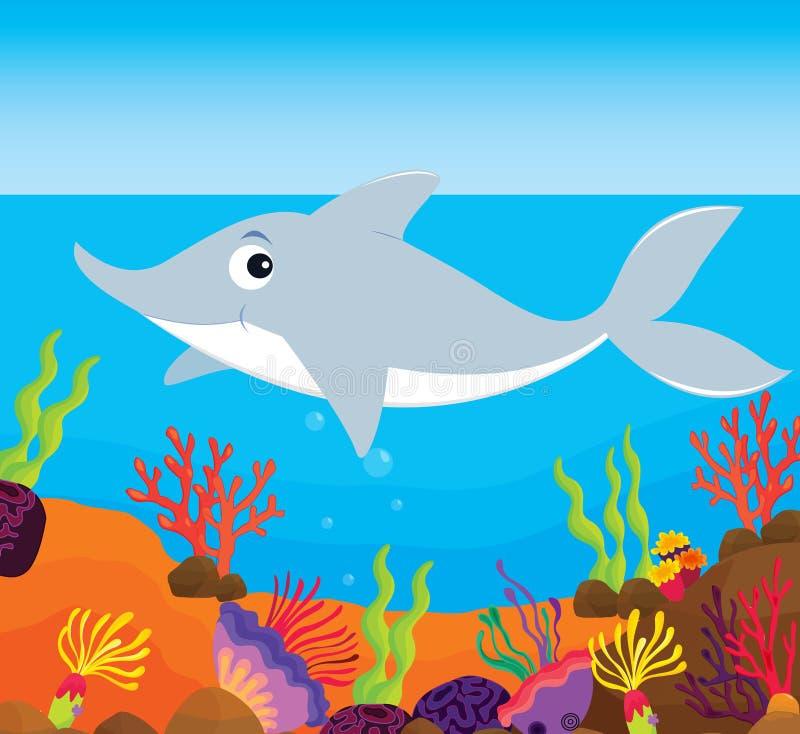 риф иллюстрации рыб иллюстрация вектора