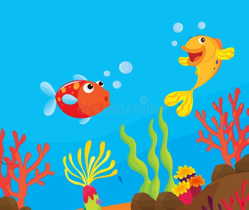 риф иллюстрации рыб иллюстрация штока