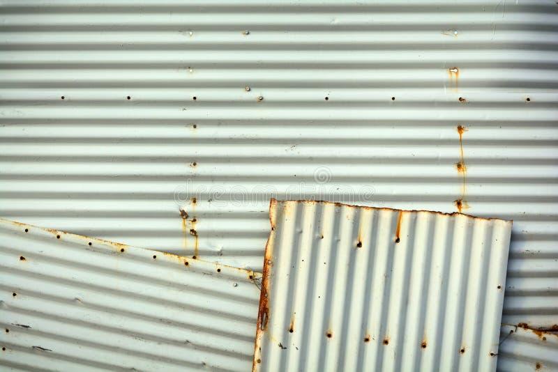 Рифлёная текстура предпосылки стены металла стоковое фото