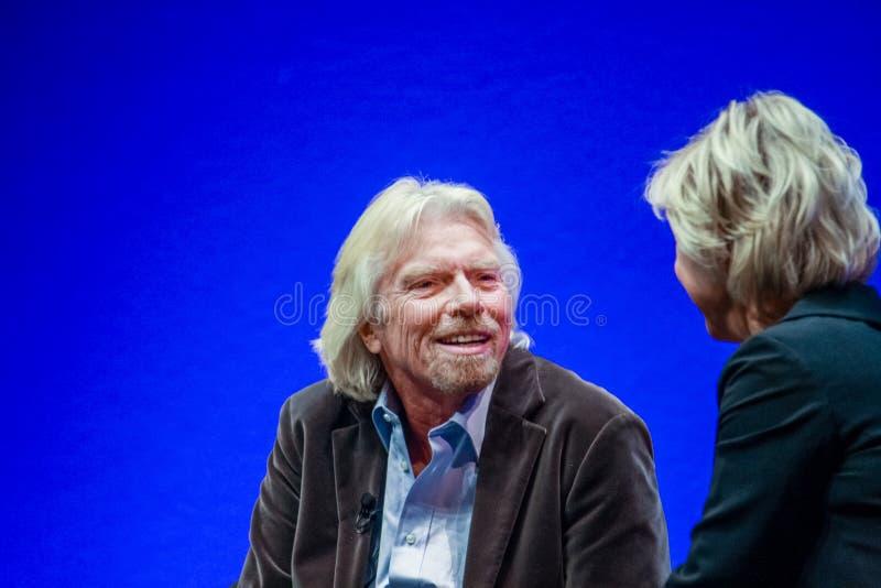 Ричард Branson, основатель и президент группы девственницы стоковые фотографии rf