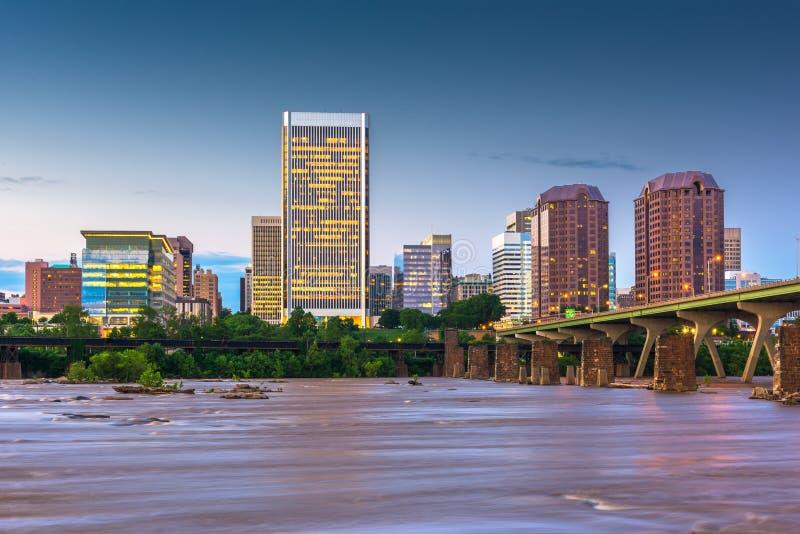 Ричмонд, Вирджиния, горизонт США городской стоковые изображения