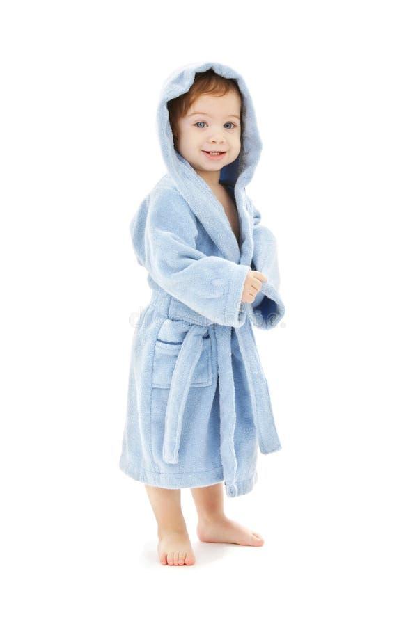 роба голубого мальчика младенца стоковая фотография rf